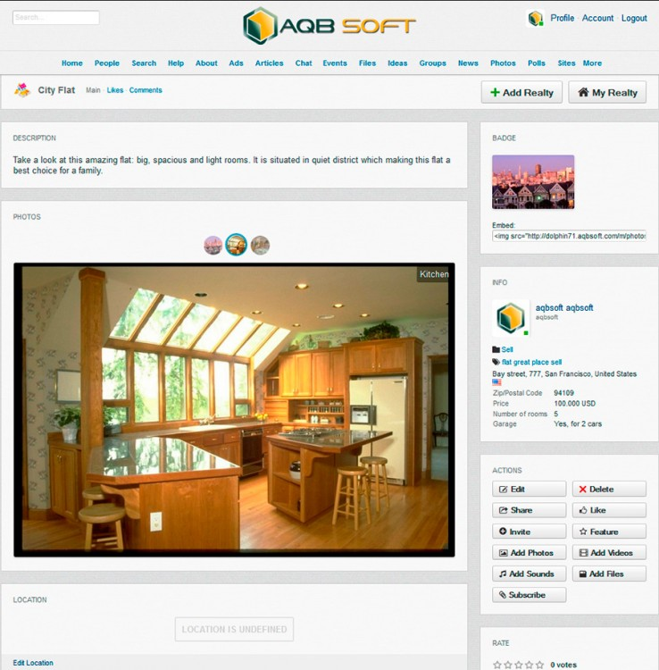Realty view page.