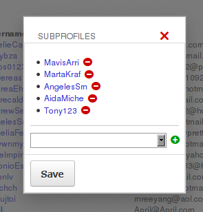Subprofiles add/removal tool